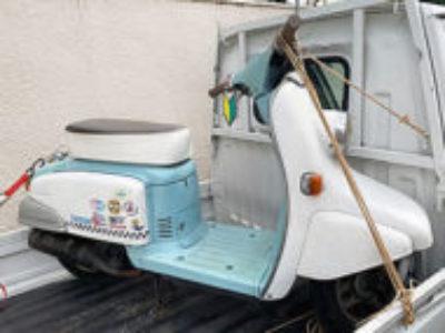 川口市安行慈林で原付バイクのホンダ ジュリオ ホワイト/ミントグリーンを無料引き取り処分と廃車