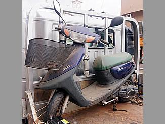 佐倉市上志津で無料で廃車と処分をしたヤマハ JOG ベリーダークブルーカクテル4