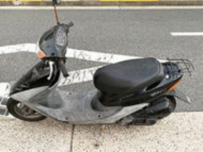 品川区豊町6丁目で原付バイクのホンダ ライブDio ブラックを無料引き取りと処分