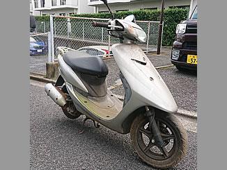 柏市松ケ崎で無料で処分と廃車をしたヤマハ JOG Z2 シルバー