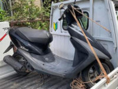川口市芝西1丁目で原付バイクのホンダ ライブDio J ブラックを無料引き取り処分