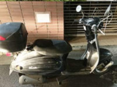 墨田区亀沢4丁目で原付バイクのスズキ ヴェルデ ブラックを無料引き取りと処分