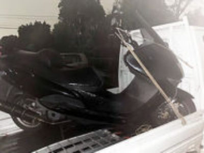 川口市大字赤井で原付バイクのヤマハ マジェスティ125 FI ブラックを無料引き取りと処分