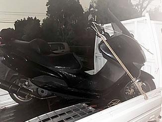 川口市大字赤井で無料で廃車と処分をしたヤマハ マジェスティ125 FI ブラック