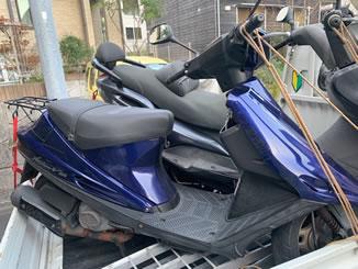 鎌倉市西御門1丁目で無料で処分と廃車をしたスズキ アドレスV100 パールスズキディープブルー