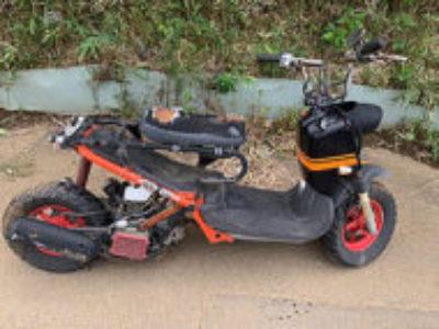 船橋市旭町2丁目で原付バイクのホンダ ズーマー カスタムを無料引き取り処分と廃車