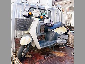 所沢市大字上安松で無料で廃車と処分をしたホンダ トゥデイ 前カゴ付き