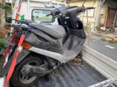 川口市新堀で原付バイクのホンダ スーパーDio ブラックを無料で引き取り処分と廃車