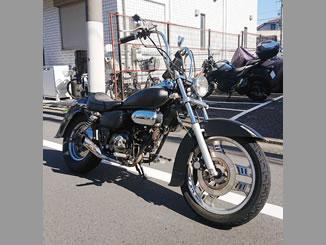 大田区新蒲田1丁目で無料で廃車と処分をしたホンダ マグナ50 マットブラック