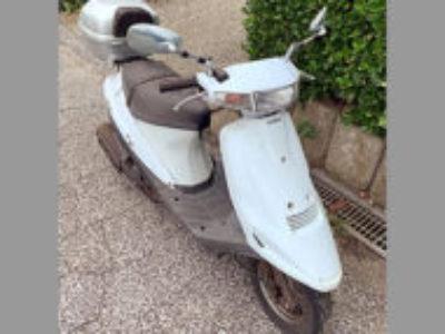 木更津市長須賀で原付バイクのスズキ アドレスV100 ホワイトを無料で引き取り処分