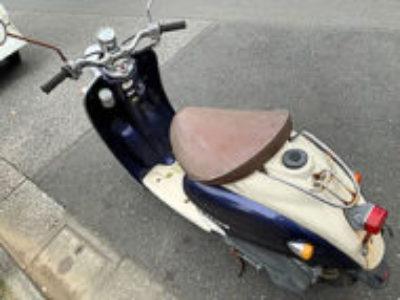 江戸川区南葛西3丁目で原付バイクのヤマハ ビーノ2スト コスミックブルーを無料引き取り処分と廃車