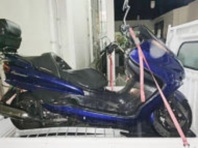 足立区大谷田3丁目で250ccバイクのヤマハ マジェスティCを無料引き取り処分