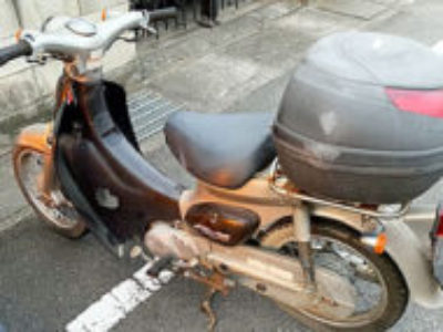 高崎市江木町で原付バイクのホンダ リトルカブを無料引き取りと処分