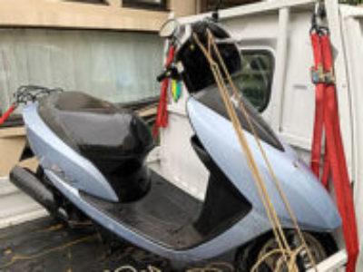 足立区加平1丁目で原付バイクのホンダ Dioを無料引き取り処分と廃車