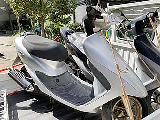 さいたま市北区吉野町1丁目で無料で廃車と処分をしたホンダ ライブDio ZX