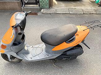 松戸市千駄堀で無料で廃車と処分をしたスズキ レッツ オレンジ