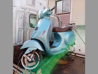 杉並区善福寺2丁目で無料で廃車と処分をしたピアジオ ベスパLX125