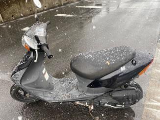 宇都宮市駒生町で無料で廃車と処分をしたスズキ レッツ2 ブラック