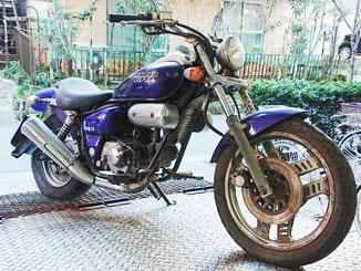 板橋区本町で無料で引き取り処分と廃車をした原付バイクのホンダ マグナ50
