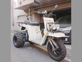 港区南青山で無料で引き取り処分と廃車をした原付バイクのホンダ ジャイロX カスタム