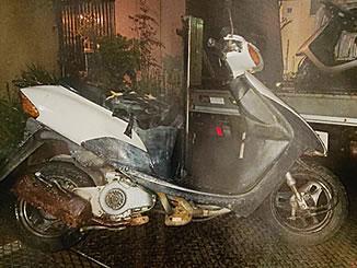足立区谷在家1丁目で無料で引き取り処分と廃車をした原付バイクのスズキ レッツ2