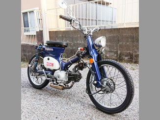 成田市三里塚で無料で引き取り処分と廃車をした原付バイクのホンダ スーパーカブ50 DX カスタム車
