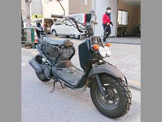 江東区新大橋2丁目で無料で引き取り処分と廃車をした原付バイクのホンダ ズーマー