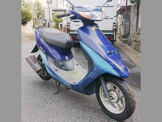松戸市日暮で無料で引き取り処分と廃車をした原付バイクのホンダ ライブDio S