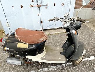 柏市豊四季で無料で引き取り処分と廃車をした原付バイクのヤマハ ビーノ