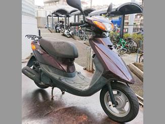 横浜市南区中里1丁目で無料で引き取り処分と廃車をした原付バイクのヤマハ JOG FI