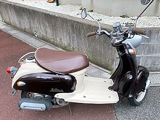 船橋市高根町で無料で引き取り処分と廃車をした原付バイクのヤマハ ビーノ