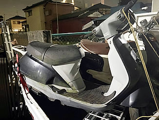 浦安市猫実で無料で引き取り処分と廃車をした原付バイクのホンダ リード90