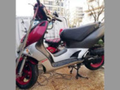 板橋区蓮根3丁目で原付バイクのキムコ スーパー9Sを無料で引き取り処分