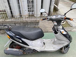 秦野市堀川で無料で引き取り処分と廃車をした原付バイクのスズキ アドレスV125G