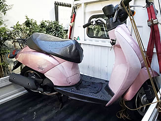 世田谷区太子堂で無料で引き取り処分をしたトゥデイ ピンク