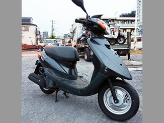 多摩市永山3丁目で無料で引き取り処分と廃車をした原付バイクのヤマハ JOG FI