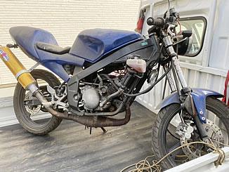 三郷市高州1丁目で無料で引き取り処分と廃車をした原付バイクのヤマハ TZR50