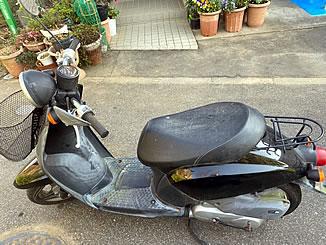川口市木曽呂で無料で引き取り処分と廃車をした原付バイクのホンダ トゥデイ