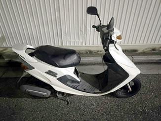 川口市西川口1丁目で無料で引き取り処分と廃車をした原付バイクのヤマハ スーパーJOG ZR