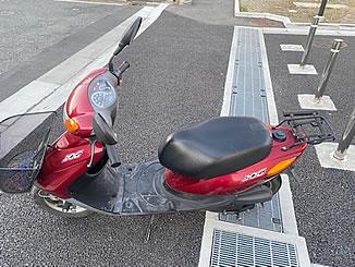 足立区花畑6丁目で無料で引き取り処分と廃車をした原付バイクのヤマハ JOG FI