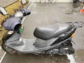 稲城市平尾3で無料で引き取り処分と廃車をした原付バイクのアドレスV125G