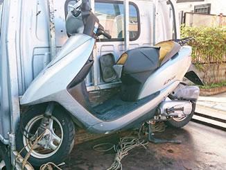 八潮市八潮7丁目で無料で引き取り処分と廃車をした原付バイクのホンダ Dio FI