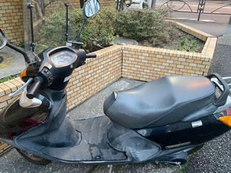 世田谷区用賀で無料で引き取り処分と廃車をした原付バイクのスペイシー100