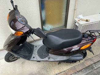 北区赤羽2丁目で無料で引き取り処分と廃車をした原付バイクのヤマハ JOG FI