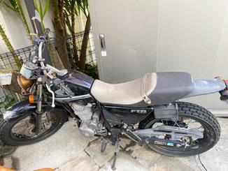 横浜市中区本牧間門で無料で引き取り処分と廃車をした223ccバイクのFTR223 DX