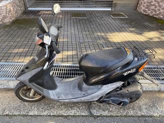横浜市神奈川区白幡南町で無料で引き取り処分と廃車をした原付バイクのライブDio