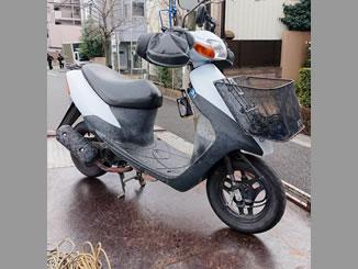 戸田市中町で無料で引き取り処分と廃車をした原付バイクのレッツ2 STD