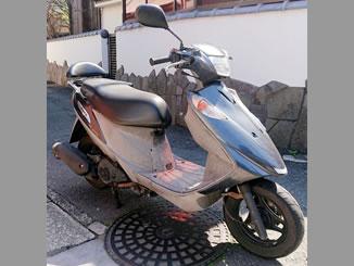 横浜市金沢区で無料で引き取り処分と廃車をした原付バイクのアドレスV125G