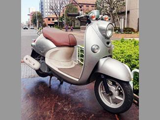 江東区で無料で引き取り処分と廃車をした原付バイクのヤマハ ビーノ DX(BA-SA26J型) シルバー3色