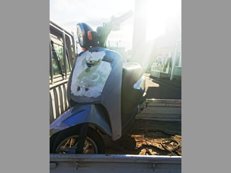 鴻巣市で無料で引き取り処分と廃車をした原付バイクのホンダ トゥデイ